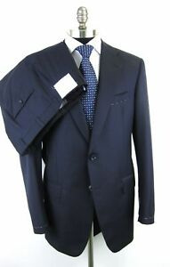 New-OXXFORD-1220-N2-Superfine-Merino-Navy-Flat-Front-Suit-50-50R-NWT-2-995