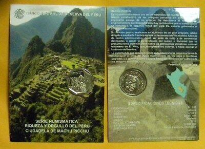 PERU 1 SOL 2011 COIN BLISTER MACHU PICCHU CUZCO 6 EDITION UNC