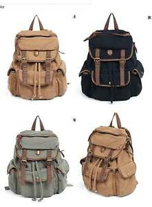 New-Woman-039-s-Canvas-Backpacks-Satchel-Book-Bags-UG0