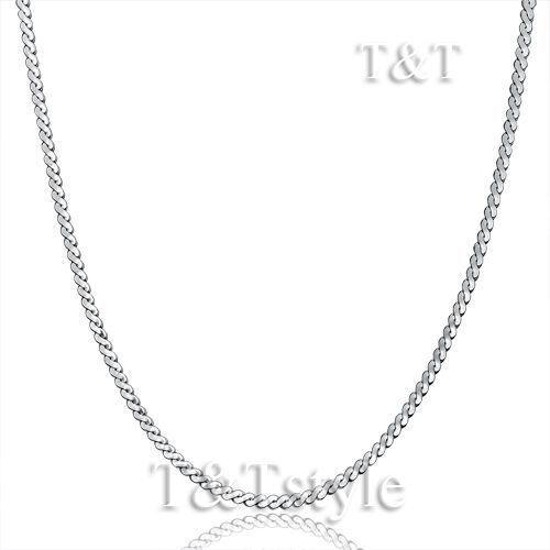 UNIQUE TT 1.5mm 316L Stainless Steel S Chain Necklace C56