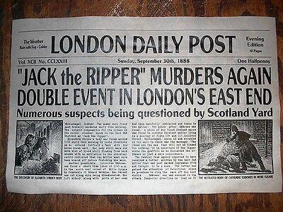 "(417) NOVELTY POSTER HALLOWEEN JACK the RIPPER LONDON SERIAL KILLER 11""x17"""