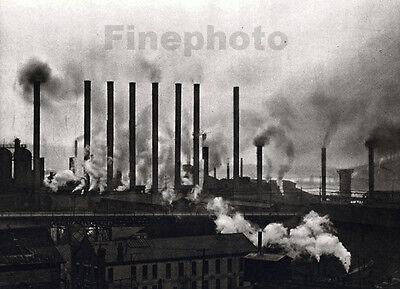 1926 Vintage PITTSBURGH Pennsylvania INDUSTRIAL Modernist Photo Art ~ E.O. HOPPE