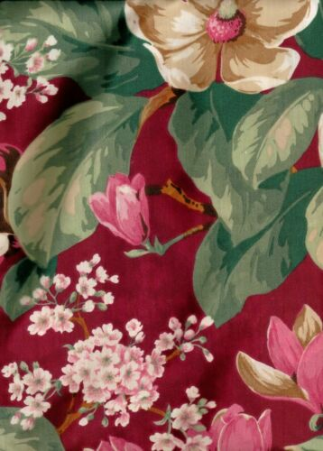 magnolia floral burgundy hunter green double swag fabric shower curtain new
