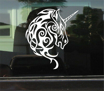 TRIBAL UNICORN VINYL DECAL/STICKER