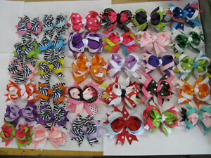1-NEW-BOUTIQUE-HAIR-BOW-VERY-CUTE-LARGE-VARIETY