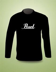 pearl drums super premium long sleeve t shirt freepost uk. Black Bedroom Furniture Sets. Home Design Ideas