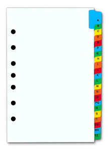 Details about a z index tabs for 7 ring binder