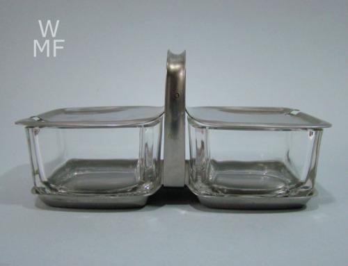 wmf kubus menage cromargan glas wilhelm wagenfeld era design. Black Bedroom Furniture Sets. Home Design Ideas