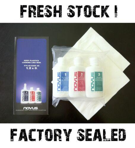 NOVUS Plastic Polish Scratch Remover Cleaner Kit #1 #2 & #3 2oz Bottles (1 Each)