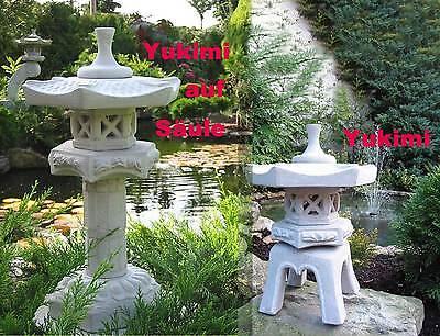 Yukimi + Yukimi a.Säule S japanische Steinlaterne Koi...