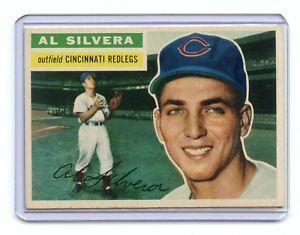 1956-TOPPS-137-AL-SILVERA-CINCINNATI-REDLEGS-REDS