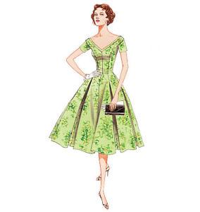 Vogue-Vintage-Retro-1950-039-s-Full-Circle-Dress-Pattern-L