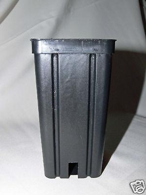 Vierkant-Containertöpfe 7x7x14cm, 50 Stück, Kakteen-Töpfe,Pflanztopf, Blumentopf
