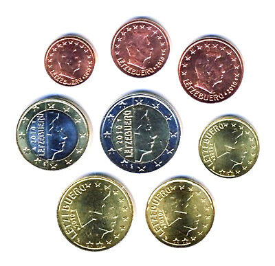 Luxembourg 2010 - Set of 8 Euro Coins (UNC)