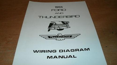 1955 FORD FAIRLANE MAINLINE CUSTOMLINE ALL WIRING DIAGRAMS SCHEMATICS MANUAL