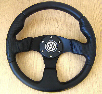 Sports Steering Wheel  VW GOLF mk1 mk2 mk3 mk4 GTI Polo 6N 6N2 9N T4 T5 Passat