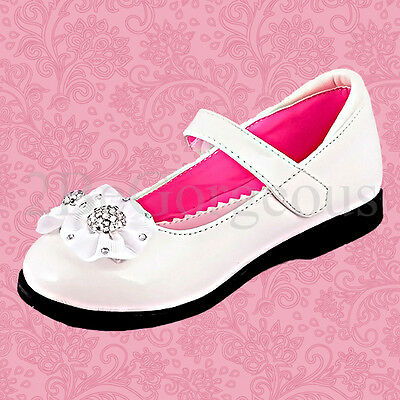 Girl Mary Jane Dress Up Shoes Wedding Flower Girl Bridesmaid Various Sizes GS002