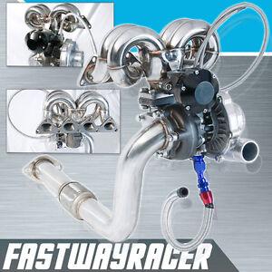 EF-EG-EK-DA-DC2-B16-B18-B16A-B16B-DOHC-T3-T4-T04E-T3-Turbo-Charger-Kit-Ram-Horn