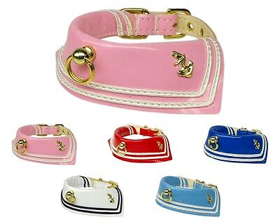 Patent Leather Sailor Dog Collar