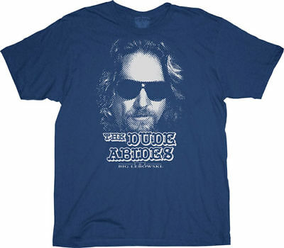 The Big Lebowski The Dude Abides Licensed Adult T Shirt Great Movie