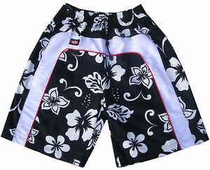 24836528e2 Mens Red Surf Designer Trunks Flower Skate Swim Board Sport Long ...