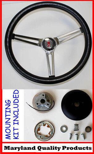 """1964 1965 1966 Olds F85 442 Cutlass 98 Delta 88 Black Steering Wheel 15"""""""