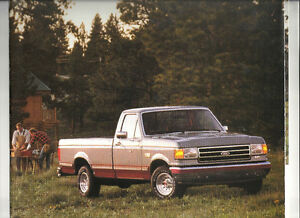 1991-FORD-F-SERIES-CUSTOM-XL-XLT-LARIAT-4x4-F150-F350-SHOWROOM-BROCHURE-034-NOS-034