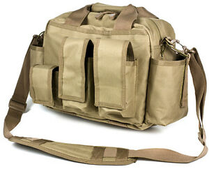NcSTAR Airsoft PVC Operators Field Bag Rifle & Pistol Mag Pouches Tan CVOFB2923T