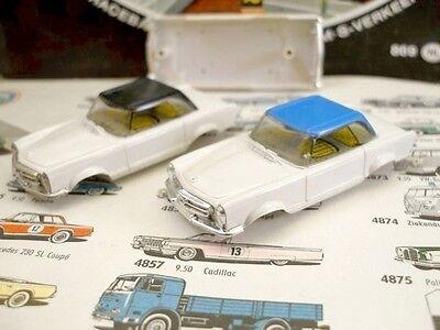 1960s Foreign Faller Mercedes 230SL White Body Pair NOS