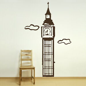 BIG BEN PARLIAMENT Wall sticker giant tattoo picture print art decal ne67 - Tamworth, Staffordshire, United Kingdom - You Are welcome to return your wall stickers if you are unhappy for any reason please notify within 14 days, should the return be due to an error by us we will pay return postage otherwise the buyer will be respon - Tamworth, Staffordshire, United Kingdom