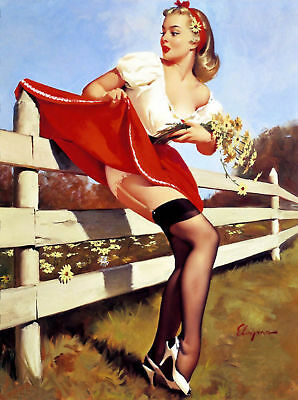 VINTAGE PIN UP GIRL Retro Burlesque Risque Poster