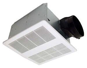 Kaze Se110t Quiet Bathroom Exhaust Ventilation Bath Fan 110 Cfm 0 9 Sones Ebay