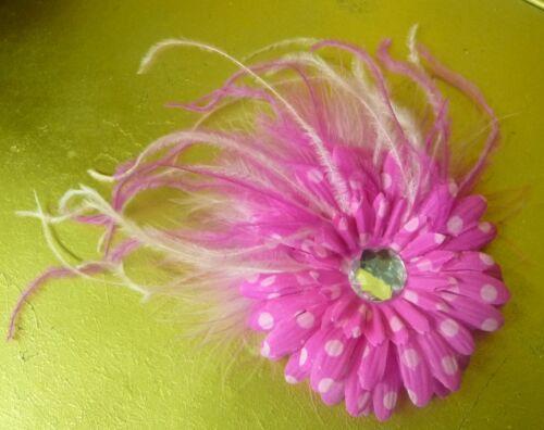 Feather Flower Hair Clip Fascinator Lapel Pin Brooch!
