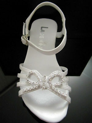 Girls communion formal dress white sandal shoes style6164