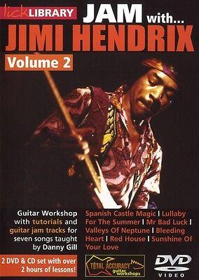 LICK LIBRARY JAM WITH JIMI HENDRIX VOL2 GUITAR DVD & CD