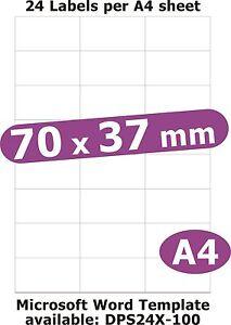 25.4x10mm 945 Labels Matt White Paper 5 A4 Sheets Laser Copier Inkjet Stickers