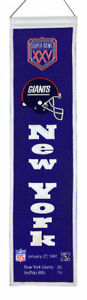 New-York-Giants-32-034-Wool-Heritage-Banner-Super-Bowl-XXV-NFL