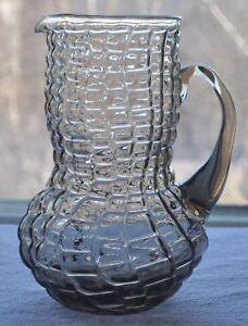 1950s Estonia TARBEKLAAS Beautiful Smoky Glass Pitcher