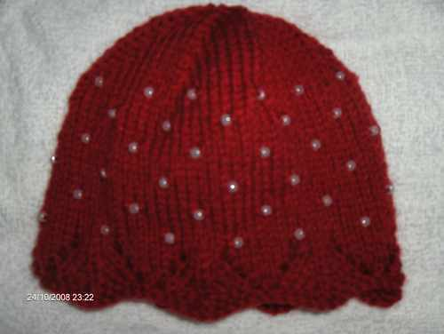 Hand Knitted Wool /& Cashmere de perles baby hat 0-3 mois