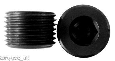 """1/2"""" NPT Male Plug Aluminium In Black"""