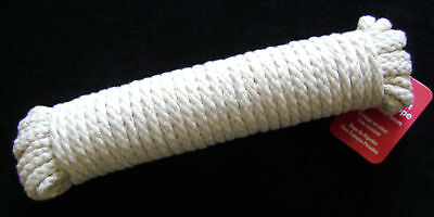 NEW ROLL HANK OF MULTI USE UBL COTTON ROPE  15M / 49.5FT