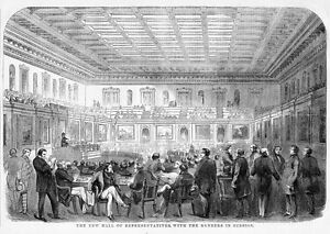 HOUSE OF REPRESENTATIVES OF 1858, MEMBERS IN SESSION