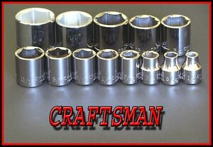 NEW-CRAFTSMAN-Hand-Tools-13pc-LOT-3-8-Drive-6-point-SAE-socket-set