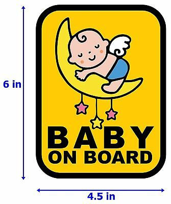 Baby on Board Sign Safety Car Decal Sticker Van ~BS01