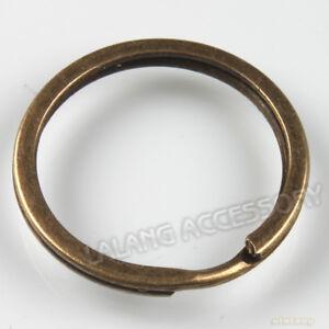 10x-Vintage-Round-Split-Rings-Fit-Keychain-30mm-160363