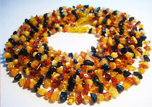 LOT-10 Natural Baltic Amber Baby Necklaces 28cm , 11