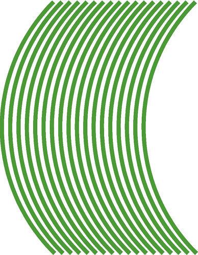 10mm wheel rim tape striping stripes stickers Vinyl.. 38 pieces//9 per wheel
