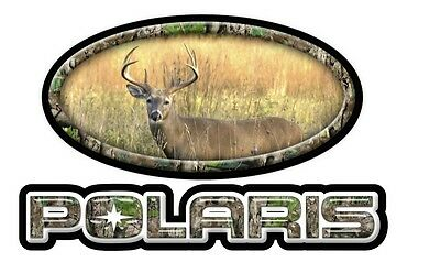 Polaris Hunting Decal, Sticker, Graphic. Deer. White tail sticker. HPDEC-0004