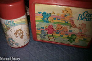 Care Bears vintage lunchbox 1983 red with thermos by ALADDIN