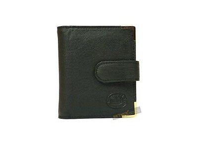 REAL LEATHER Credit card holder 22 cards removable sleeves wallet Ladies Gent's